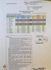 update jadwal kapal tidar