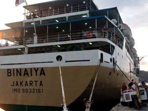 Jadwal Kapal Pelni KM Binaiya Mei 2021